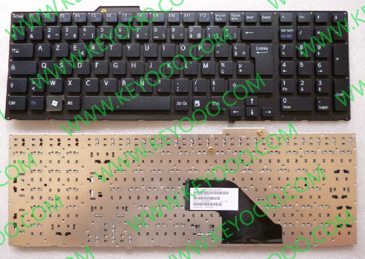 Sony Vaio pcg-8113l pcg-8115l black fr layout keyboard